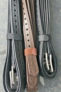 """New!! Shires Easy Care Non-Stretch Stirrup Leathers - 54"""" & 48"""" - Black & Brown"""