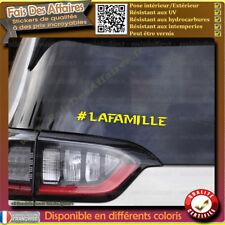 Sticker autocollant #LaFamille soutient je suis gilet gilet jaune