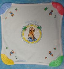 Beatrix Potter Peter Rabbit Baby Teething Blanket White Cotton Teether