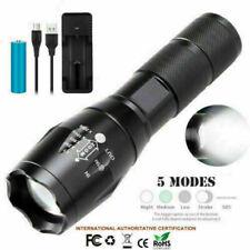 LED Polizei Taschenlampe Swat Cree T6 Wiederaufladbare Zoom Licht +18650 Akku DE