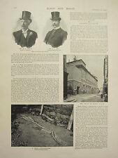 1898 PRINT ~ PRISON OF SAINTE PELAGIE FOSSIL ICHTHYOSAURUS MR F WALL N. JACKSON
