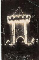 POSTCARD  SOUTHAMPTON BARGATE - PEACE CELEBRATIONS - ILLUMINATE  c1919 -   RP
