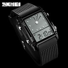 S-SHOCK Quartz Wristwatch LED Digital Analog 50M Waterproof Military Watch