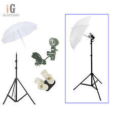 Photo Studio kit 4in1 E27 Socket+Single Lamp Bulb Holder+light stand+Umbrella