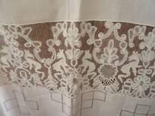 A Stunning Huge 19th Century Trousseau Burano & Tape Lace Sheet Sham