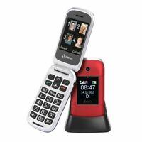 OLYMPIA Janus Senioren Mobiltelefon Handy große Tasten und Farbdisplay, Rot