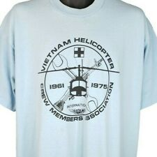 Vietnam Helicopter Crew Member T Shirt Vintage 80s 90s Military Made In USA 2XL