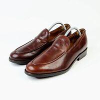 Frye Mens Jefferson Venetian Slip On Loafers Brown Leather Size 9.5 D Dress Shoe