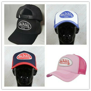 Von Dutch Trucker Hat Breathable and Perspiration Adjustable Hat 4 colors