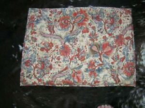 Pottery Barn Floral Quilted Standard Sham ties on back