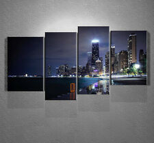 City Night Canvas Print Wall Art Painting Picture Home Decor Unframed