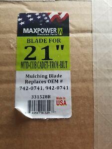 Maxpower 331528B Mulching Blade for 21 Inch Cut MTD/Cub Cadet/Troy-Bilt Repla...