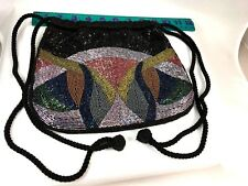 Vintage Micro Beaded Handbag, Beaded Purse
