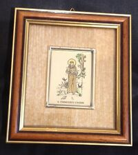 "VINTAGE ST FRANCESCO D'ASSISI PICTURE FRAME  4 1/2"" BY 4"" GREST CONDITION"