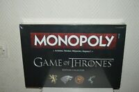 JEU  MONOPOLY GAME OF THRONE EDITON COLLECTOR HASBRO GAMING  2015 NEUF SCELLER
