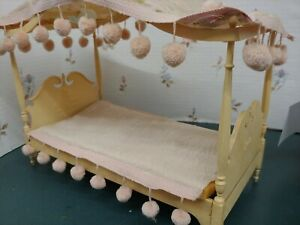 Vintage Susy Goose Barbie Bed 4 poster bed