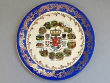 Scherzer Porcelain Luxembourg Souvenir Plate Made in Bavaria, Germany