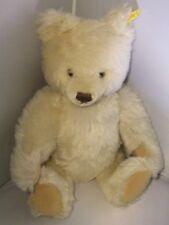 """vintage steiff white mohair fully jointed bear 15"""" 0203/41"""