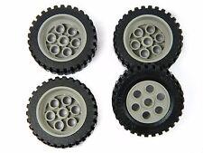 LEGO TECHNIC WHEELS Model Team set of 4 42x12mm Wheel Tire large tyre gray *
