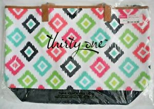 Thirty One 31 LAKESIDE TOTE in ~Retired~ CANDY CORNERS ~New in Package!