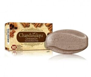 CHANDANALEPA Ayurveda Herbal Cinnamon and Beauty Soap Ceylon