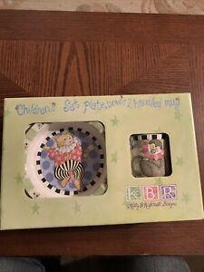 KBR Kelly B. Rightsell Children's Set: Plate, Bowl & 2 Handled Mug New In Box