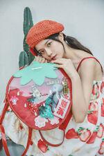 Multi style Cute Strawberry Transparent Tote Bag Handbag Backpack Shoulder Bag