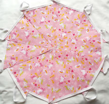Pink Unicorn Fabric Bunting Bundle 20ft /6m Partys Banner Garland