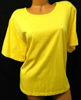 Anthony richards yellow women's plus size round neck short sleeve solid top 1X