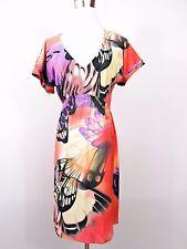 Mujeres Vintage Jersey Casual Festival Retro Floral Estampado Vestido Midi Talla L/XL BB24