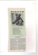 Vintage Poem Photograph Kerry Blue Terrier From Ireland Ad Print C598