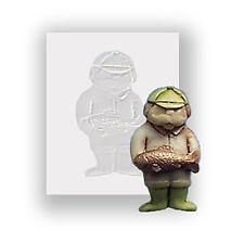 Hombre De Pesca Molde de silicona, alimentos seguros, molde Sugarcraft Decoración de pasteles,