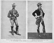 FREDERIC REMINGTON LIEUTENANT TENTH CAVALRY IN UNIFORM OFFICERS POWHATAN CLARKE