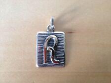 "New Gold and silver pendant  Colgante de oro y plata - Letra Letter "" R ""  Nuevo"