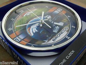 """Denver Broncos NFL Wall Clock - 12"""" WinCraft"""