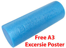 "ResultSport® Alpha+ Foam Roller 45cm x 15cm(18""x6"") with Free A3 Excerise Poster"