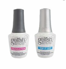 Harmony Gelish Top it off/ Foundation/ Top Base Duo LED/ UV Soak Off - Pick 1
