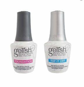 Harmony Gelish Top it off/ Foundation/ Top Base Duo LED/ UV Soak Off - Pick 1