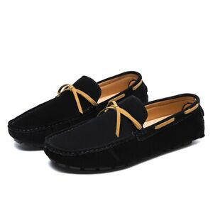 New Driving Moccasins Mens Flats Soft Comfort Faux Suede Loafers Shoes Leisure D