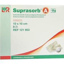 SUPRASORB A+Ag Antimik.Cal.Alginat Kompr.10x10 cm 8 St