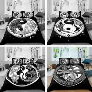 TAIJI BAGUA  3D Bedding Set 2/3PCS Duvet Cover & Pillowcase Gift