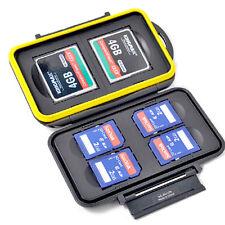 Caisson Boîte Etanche de Protection pour Carte Flash 2 CF Carte Mémoire 4 SD