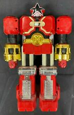 "VINTAGE 1996 BANDAI POWER RANGERS 10"" DELUXE ZEO RED PUNCHING ACTION BATTLEZORD"