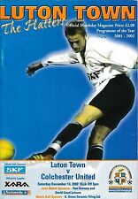 Football Programme>LUTON TOWN v COLCHESTER UNITED Dec 2002