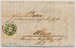 ÖSTERREICH 1863 3Kr, grün, ORTSBRIEF (Inhalt) mit NEUBAU/IN WIEN Stempel.