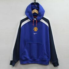 Vintage Manchester United Nike Sweatshirt Hoodie Sz L Embroidered Middle Swoosh