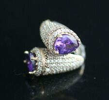 Lovely Turkish Jewelry Handmade Amethyst 925 Sterling Silver Ring Size 9