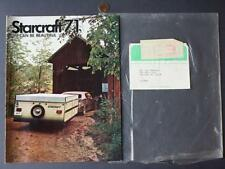 1971 Goshen,Indiana Starcraft Fifth Wheel Motor Homes-RVs & Campers booklet-NICE