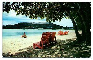 1955 Lindberg Beach, St. Thomas, US Virgin Islands Postcard