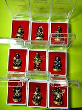 6738-THAI AMULET BRONZE GUMAN BOY RICH LUCKY GAMBLE LP NEN BLACK GOLD COMPLETED